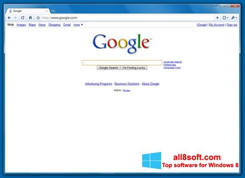 Screenshot Google Chrome Beta for Windows 8