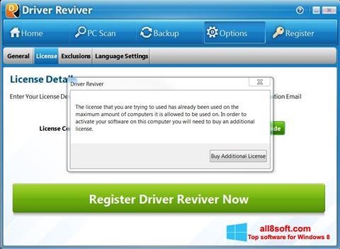 Screenshot Driver Reviver for Windows 8