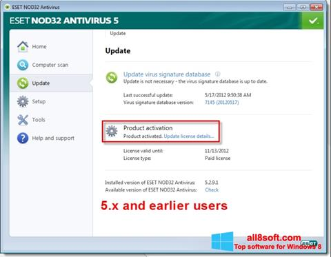 Screenshot ESET NOD32 for Windows 8