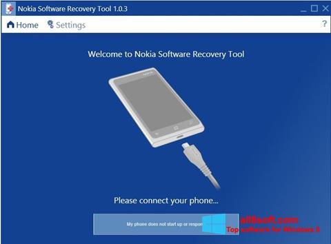 Screenshot Nokia Software Recovery Tool for Windows 8