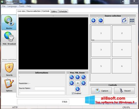 Screenshot webcamXP for Windows 8
