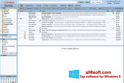 Screenshot Zimbra Desktop for Windows 8