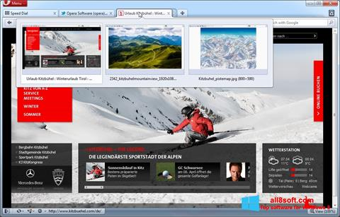 Screenshot Opera for Windows 8