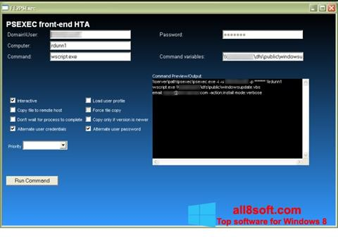 Screenshot PsExec for Windows 8