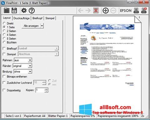 Screenshot FinePrint for Windows 8