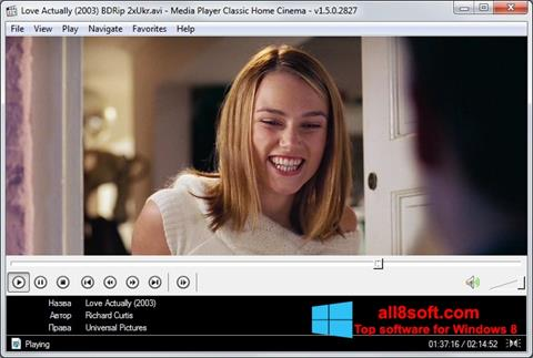 Screenshot Media Player Classic Home Cinema for Windows 8