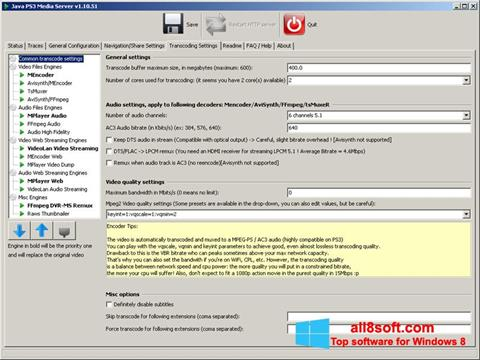 Screenshot PS3 Media Server for Windows 8