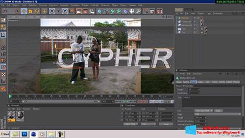 Screenshot CINEMA 4D for Windows 8
