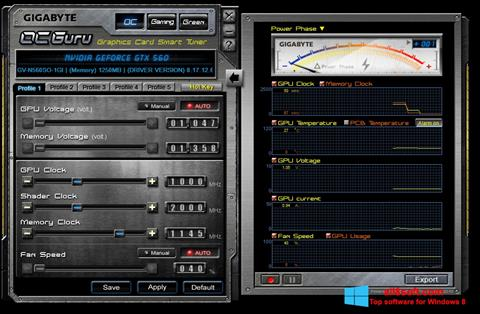 Screenshot GIGABYTE OC Guru for Windows 8