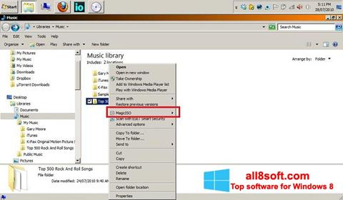 Screenshot MagicISO for Windows 8