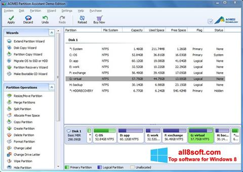 Screenshot AOMEI Partition Assistant for Windows 8