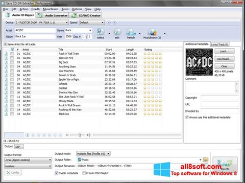 Screenshot Easy CD-DA Extractor for Windows 8