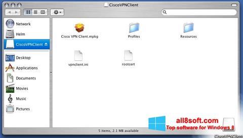 Screenshot Cisco VPN Client for Windows 8