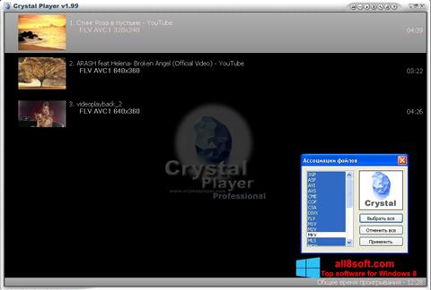 Screenshot Crystal Player for Windows 8