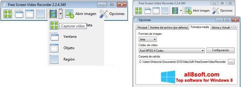 Screenshot Free Screen Video Recorder for Windows 8