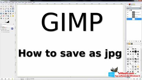 Screenshot GIMP for Windows 8