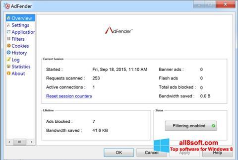 Screenshot AdFender for Windows 8