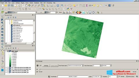 Screenshot QGIS for Windows 8