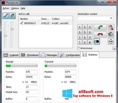 Screenshot PhonerLite for Windows 8