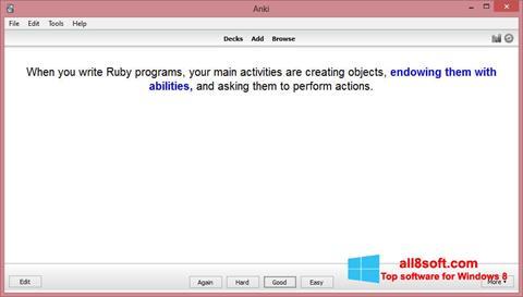 Screenshot Anki for Windows 8