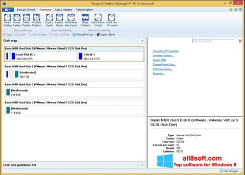 Screenshot Paragon Partition Manager for Windows 8