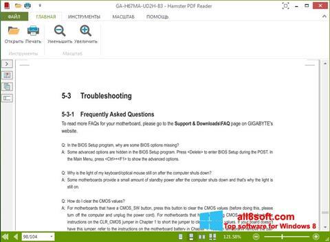 Screenshot Hamster PDF Reader for Windows 8