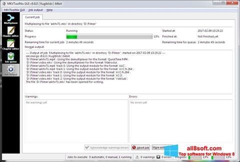Screenshot MKVToolnix for Windows 8