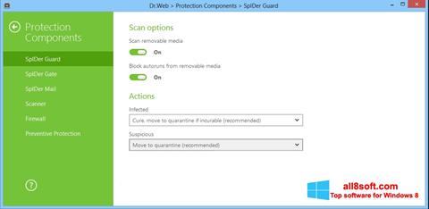 Screenshot Dr.Web Security Space for Windows 8