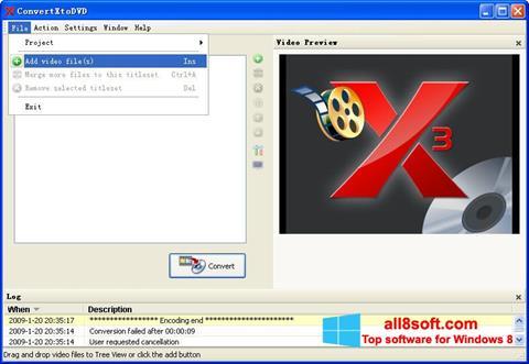 Screenshot ConvertXToDVD for Windows 8