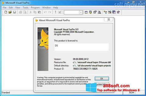 Screenshot Microsoft Visual FoxPro for Windows 8