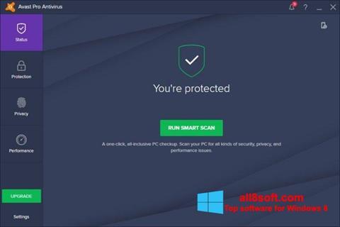Screenshot Avast! Pro Antivirus for Windows 8