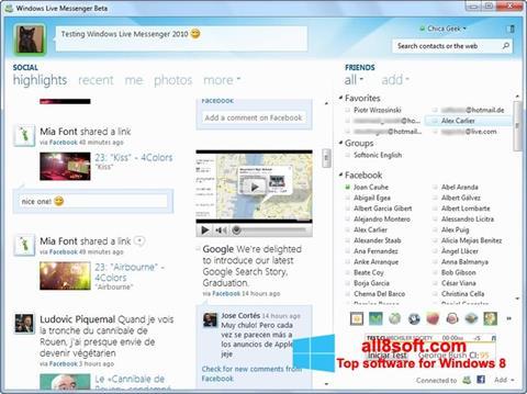 Screenshot Windows Live Messenger for Windows 8