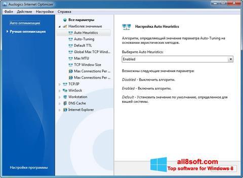 Screenshot Auslogics Internet Optimizer for Windows 8