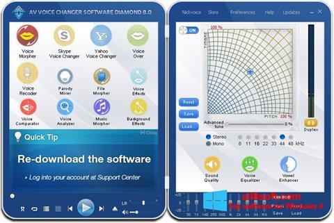 Screenshot AV Voice Changer Diamond for Windows 8
