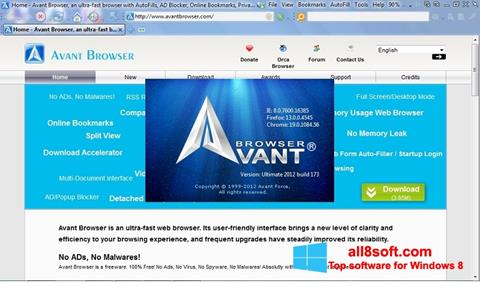 Screenshot Avant Browser for Windows 8