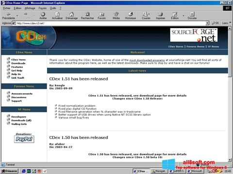 Screenshot CDex for Windows 8