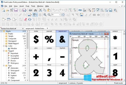 Screenshot Font Creator for Windows 8