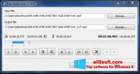 Screenshot Free Audio Dub for Windows 8