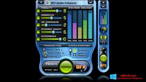 Screenshot DFX Audio Enhancer for Windows 8
