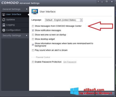 Screenshot Comodo for Windows 8