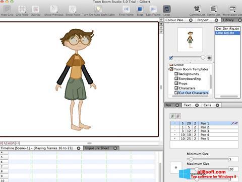 Screenshot Toon Boom Studio for Windows 8