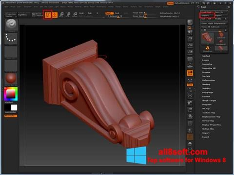 Screenshot ZBrush for Windows 8