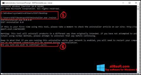 Screenshot ESET Uninstaller for Windows 8