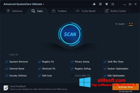 Screenshot Advanced SystemCare Ultimate for Windows 8