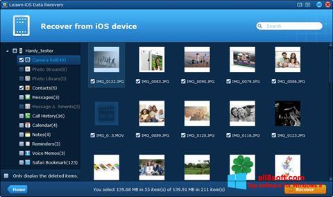Screenshot iPhone Data Recovery for Windows 8
