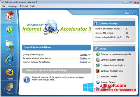 Screenshot Ashampoo Internet Accelerator for Windows 8