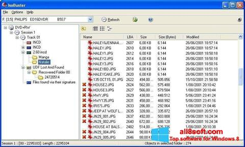 Screenshot IsoBuster for Windows 8