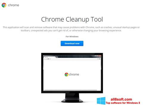 Screenshot Chrome Cleanup Tool for Windows 8