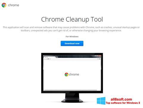 Screenshot Chrome Cleanup Tool for Windows 8