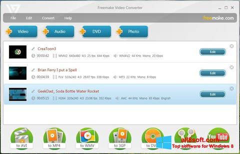 Screenshot Freemake Video Converter for Windows 8